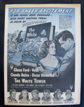 The White Tower (1950) - Claude Rains | Glenn Ford | Vintage Trade Ad